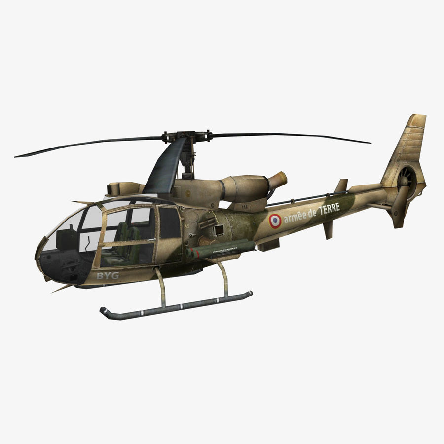 Helicóptero Gazelle royalty-free 3d model - Preview no. 1