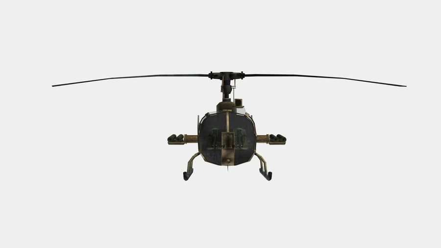Helicóptero Gazelle royalty-free 3d model - Preview no. 10