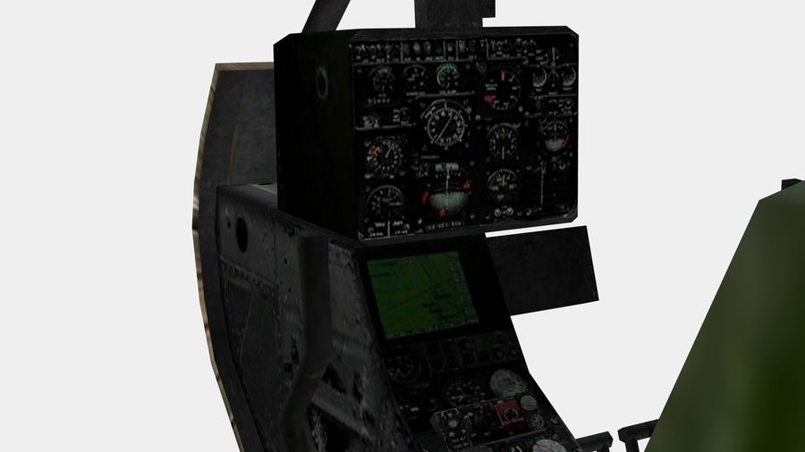 Helicóptero Gacela royalty-free modelo 3d - Preview no. 12