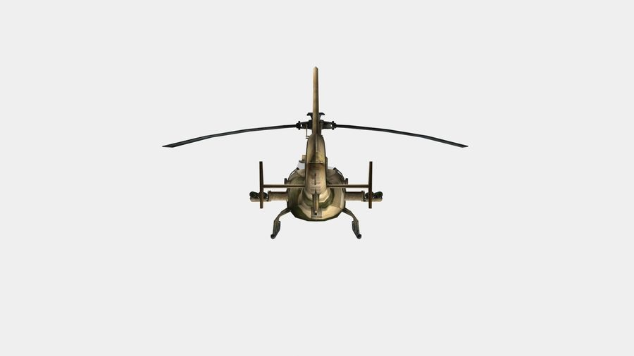 Gazelle Hubschrauber royalty-free 3d model - Preview no. 6