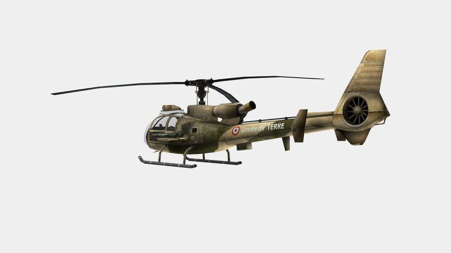 Helicóptero Gazelle royalty-free 3d model - Preview no. 5