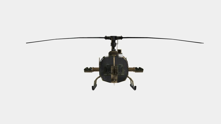 Gazelle Hubschrauber royalty-free 3d model - Preview no. 10