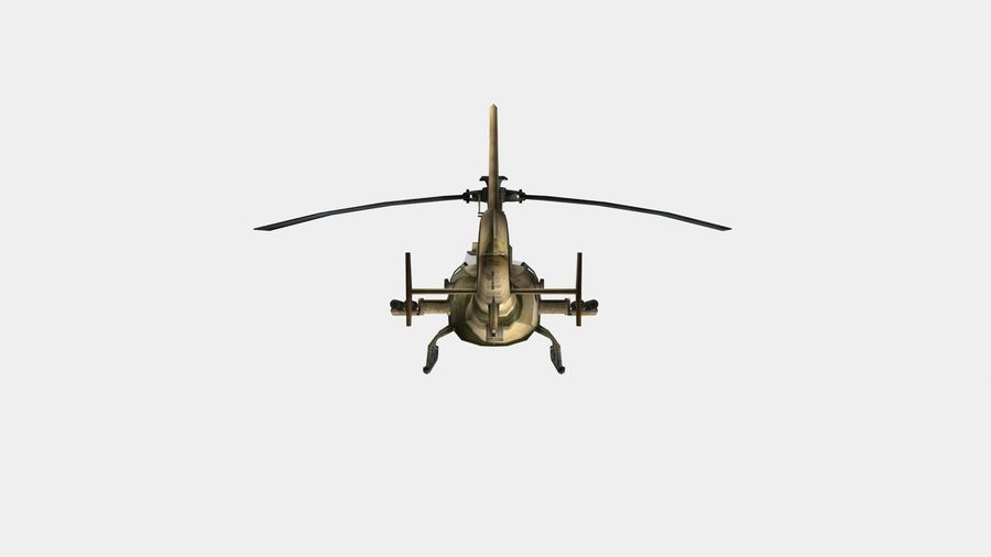 Helicóptero Gazelle royalty-free 3d model - Preview no. 6