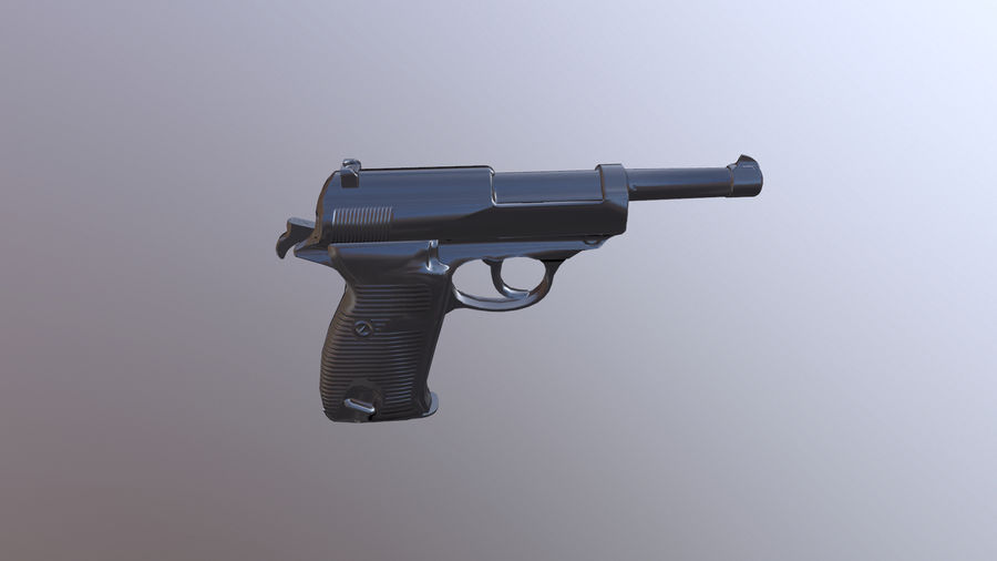 waltherp38 royalty-free 3d model - Preview no. 1