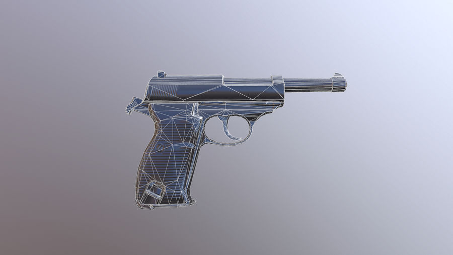 waltherp38 royalty-free 3d model - Preview no. 5