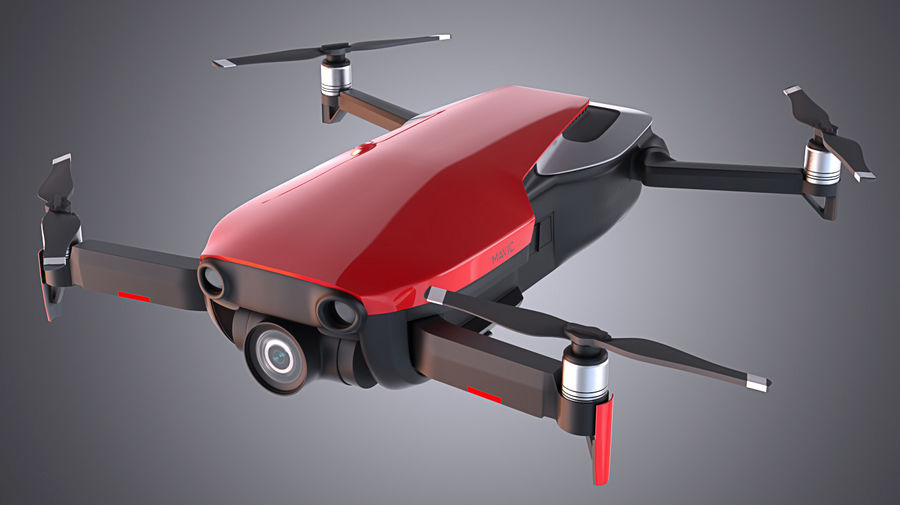 DJI Mavic Air Drone royalty-free 3d model - Preview no. 1