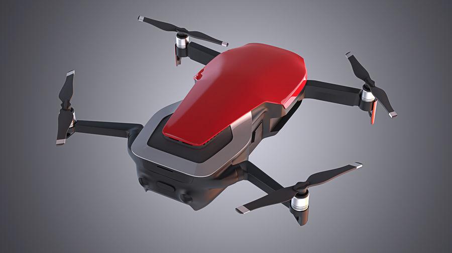 DJI Mavic Air Drone royalty-free 3d model - Preview no. 2