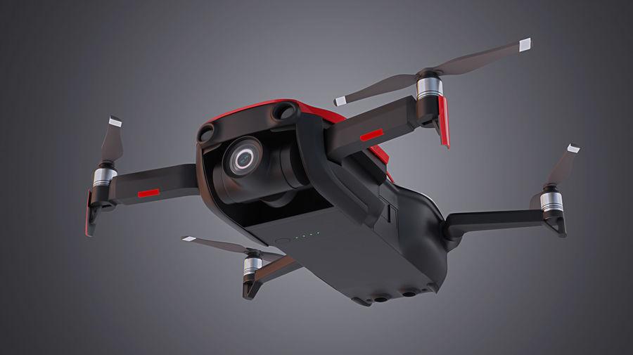 DJI Mavic Air Drone royalty-free 3d model - Preview no. 3