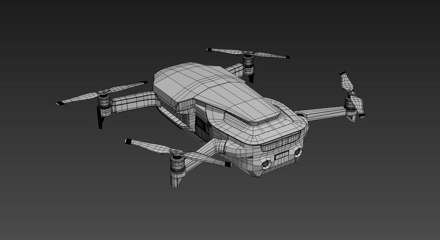 DJI Mavic Air Drone royalty-free 3d model - Preview no. 7