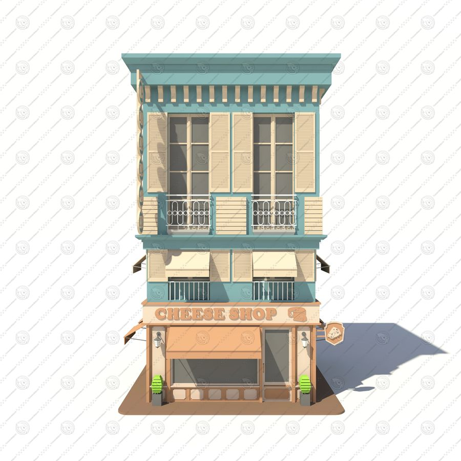 Cheese Shop 01 royalty-free 3d model - Preview no. 2