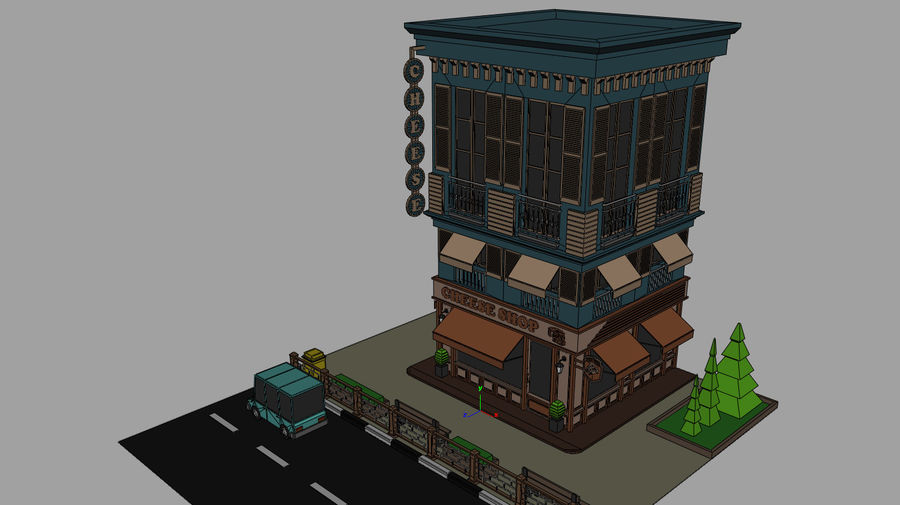 Cheese Shop 01 royalty-free 3d model - Preview no. 6