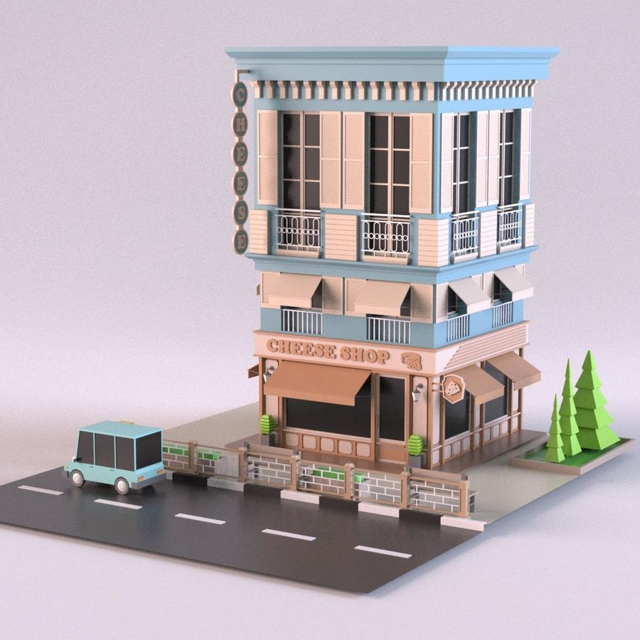 Cheese Shop 01 royalty-free 3d model - Preview no. 1