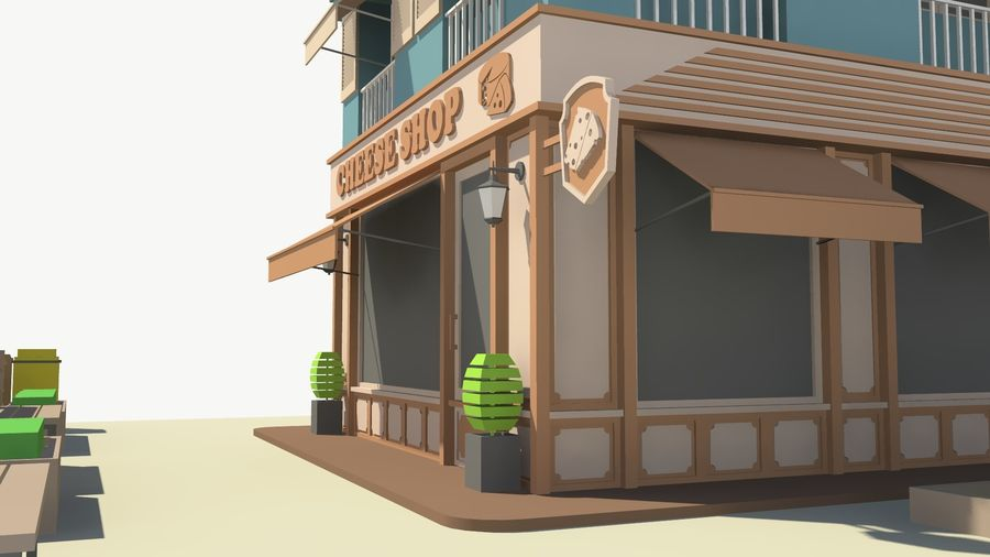 Cheese Shop 01 royalty-free 3d model - Preview no. 10