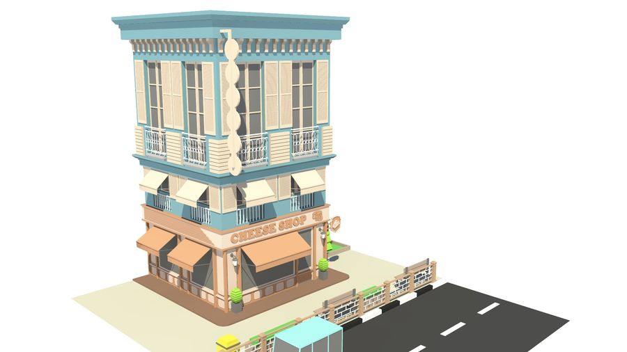 CheeseShop 01 royalty-free 3d model - Preview no. 6
