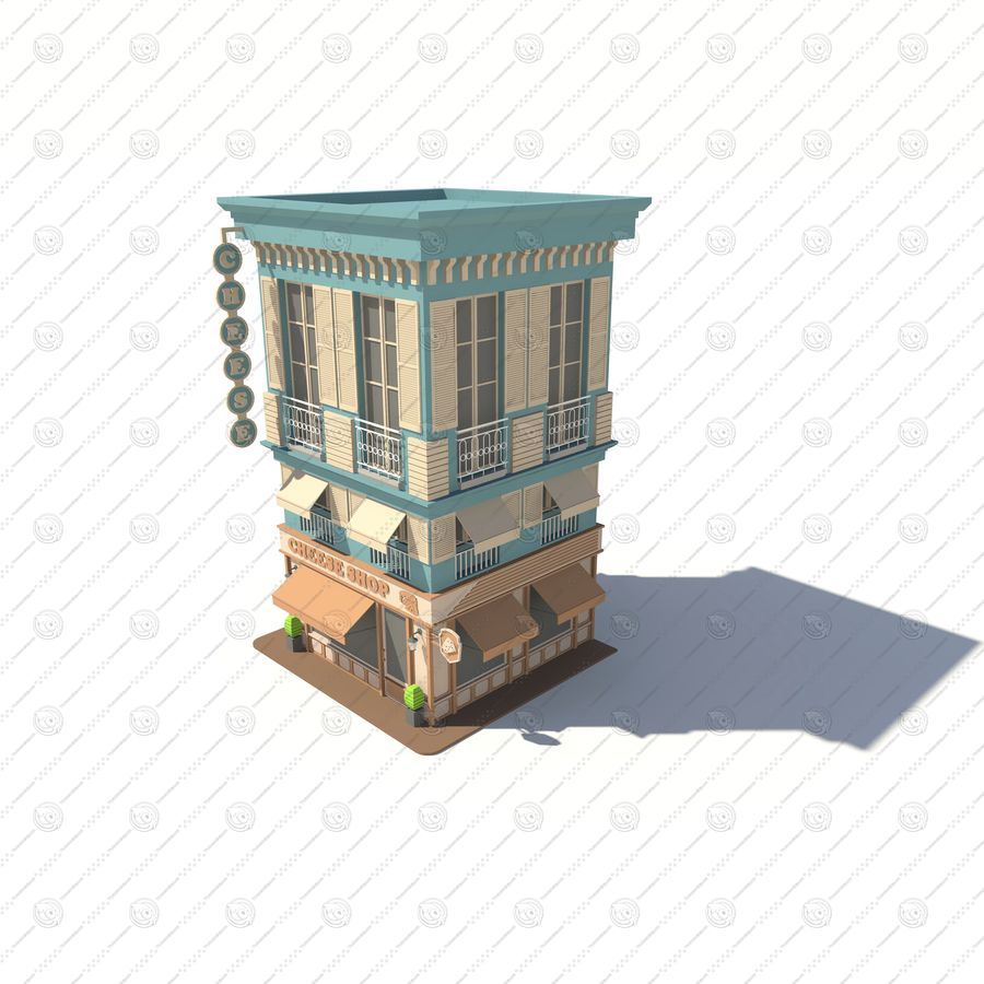 Cheese Shop 01 royalty-free 3d model - Preview no. 3