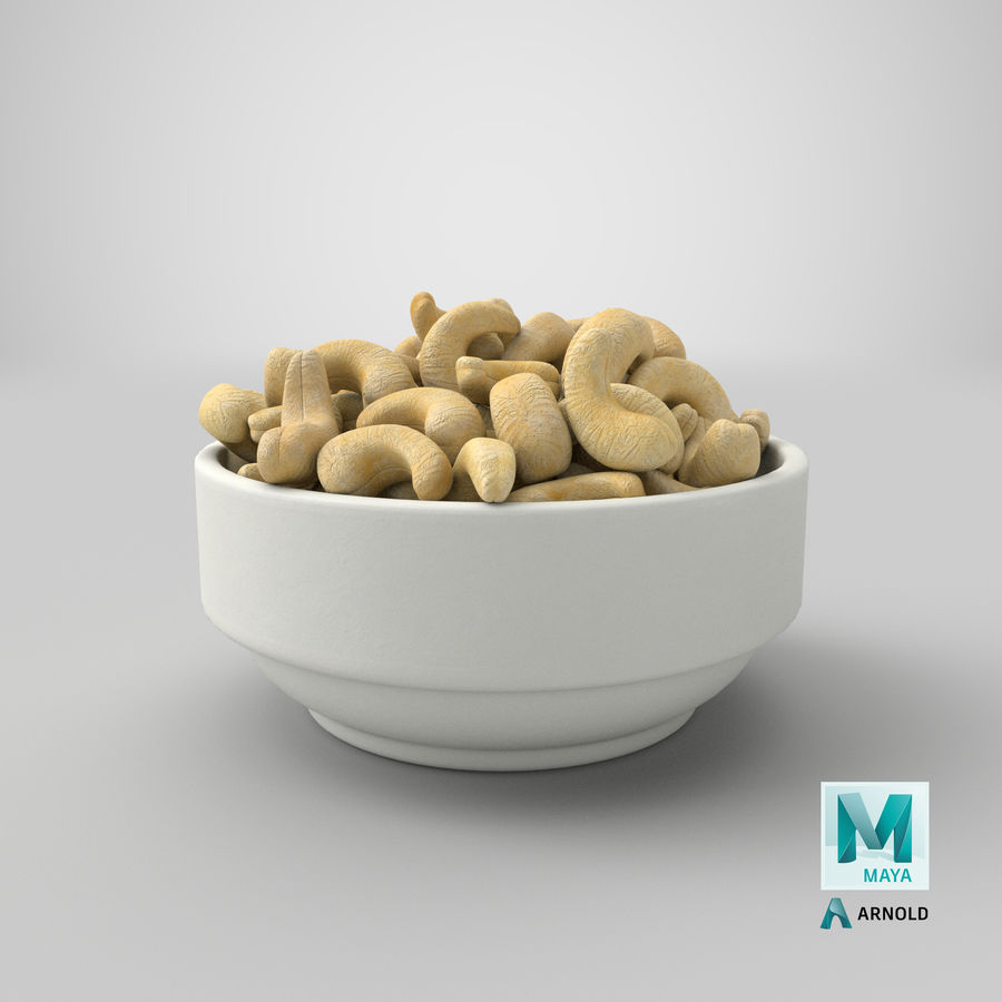 Cashew in Kom royalty-free 3d model - Preview no. 35