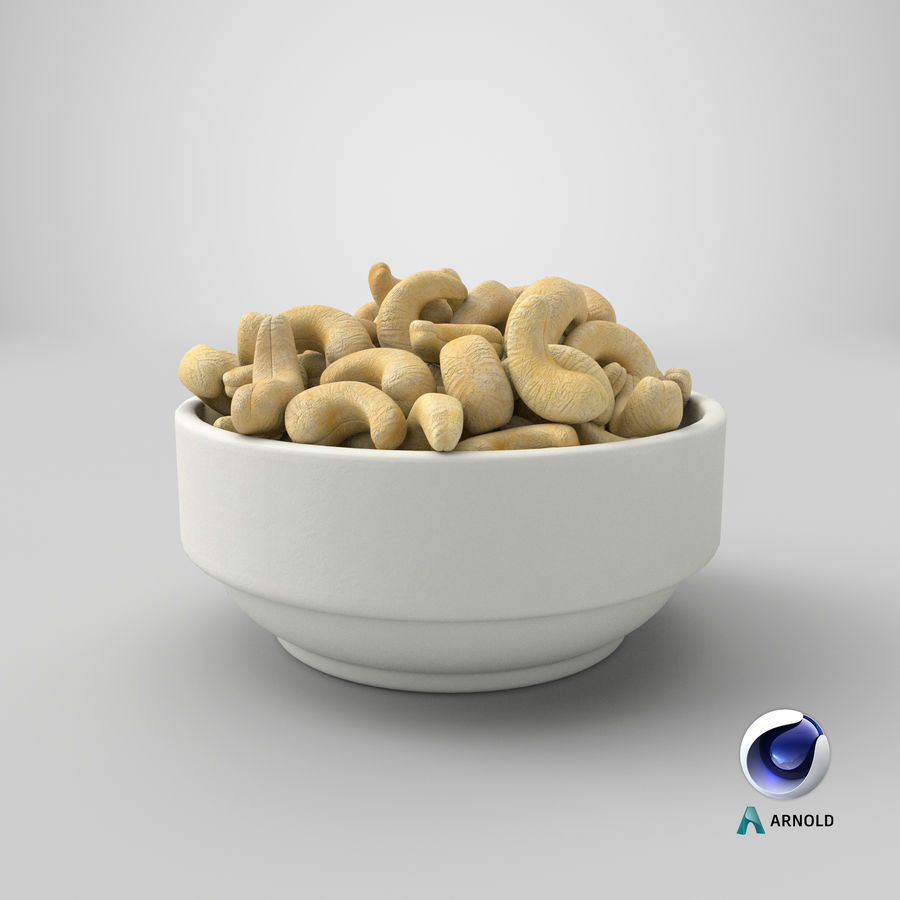 Cashew in Kom royalty-free 3d model - Preview no. 31