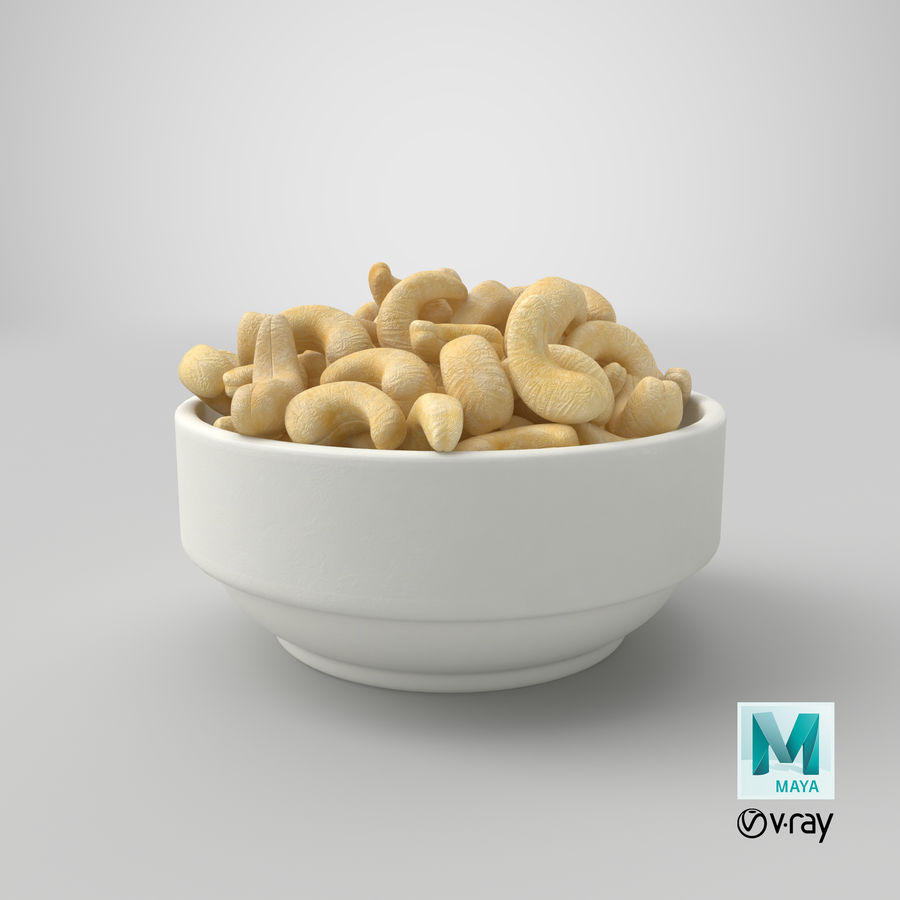 Cashew in Kom royalty-free 3d model - Preview no. 37