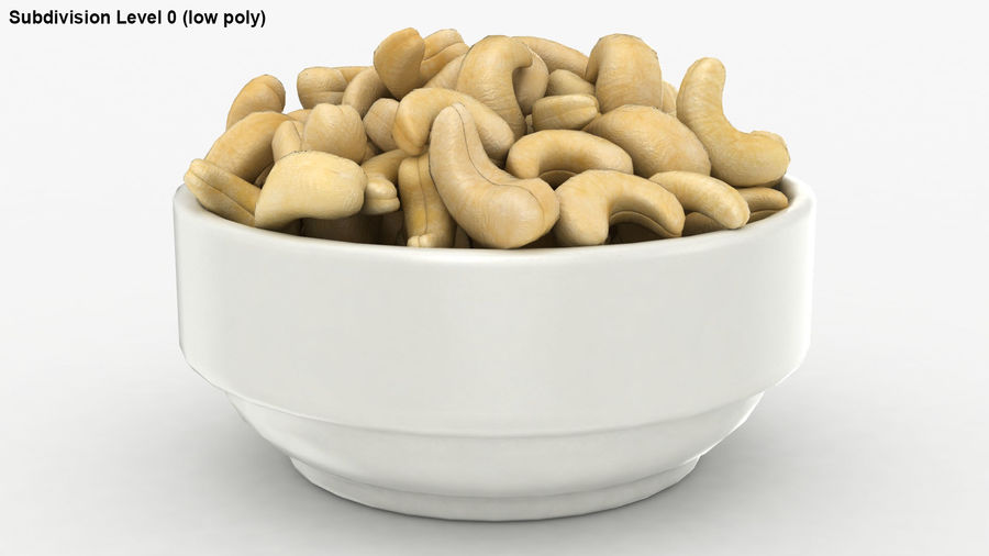 Cashew in Kom royalty-free 3d model - Preview no. 24