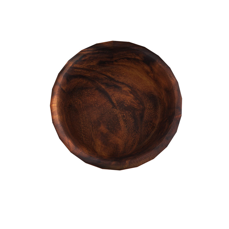 Wood Bowl royalty-free 3d model - Preview no. 5