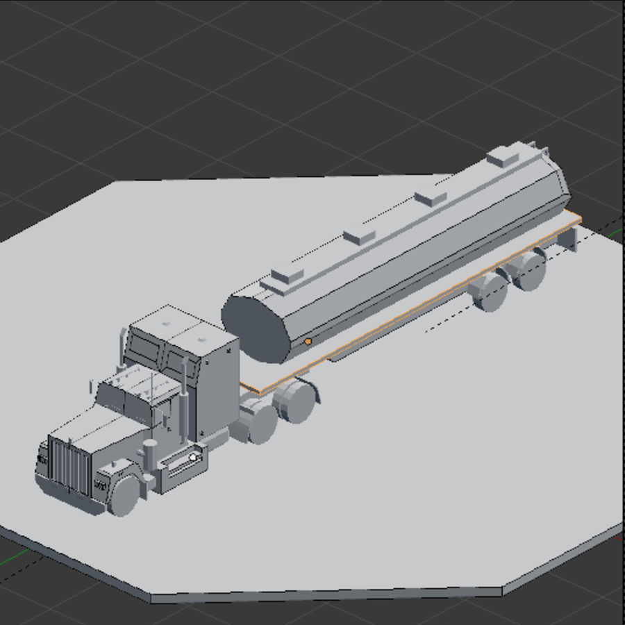 low poly truck royalty-free 3d model - Preview no. 4