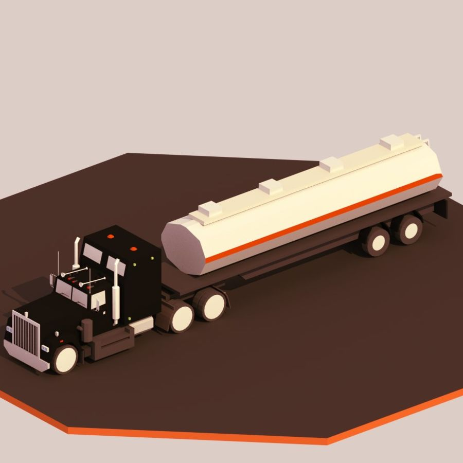 low poly truck royalty-free 3d model - Preview no. 5