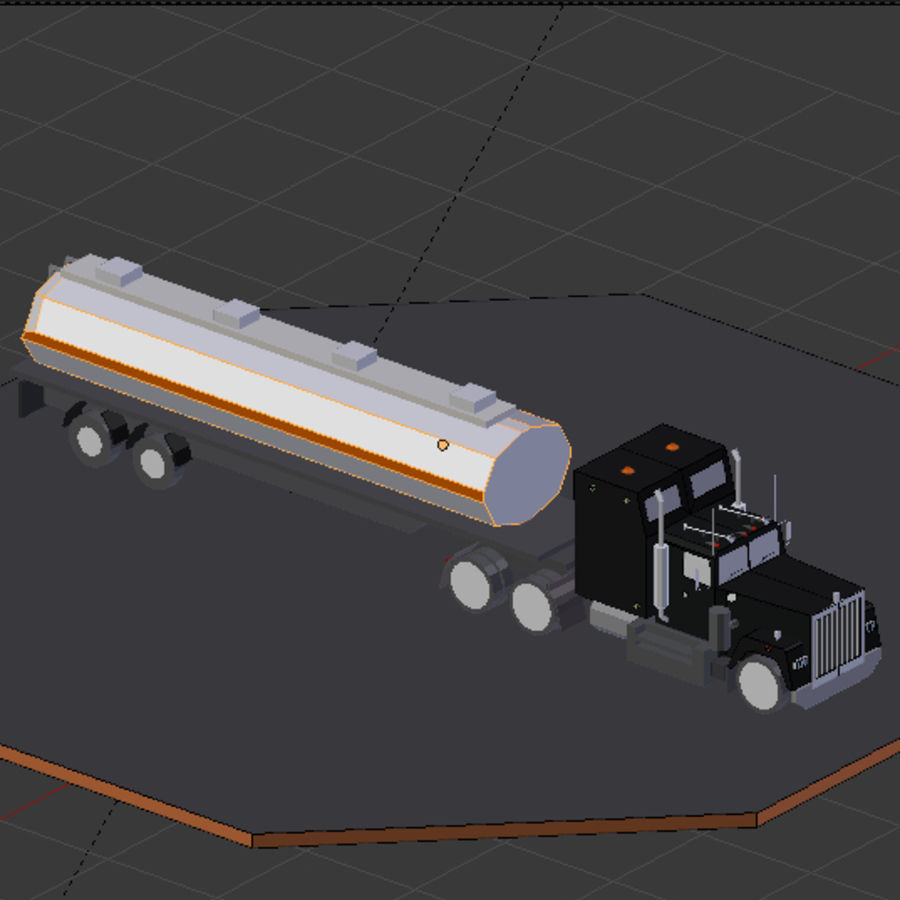 low poly truck royalty-free 3d model - Preview no. 3