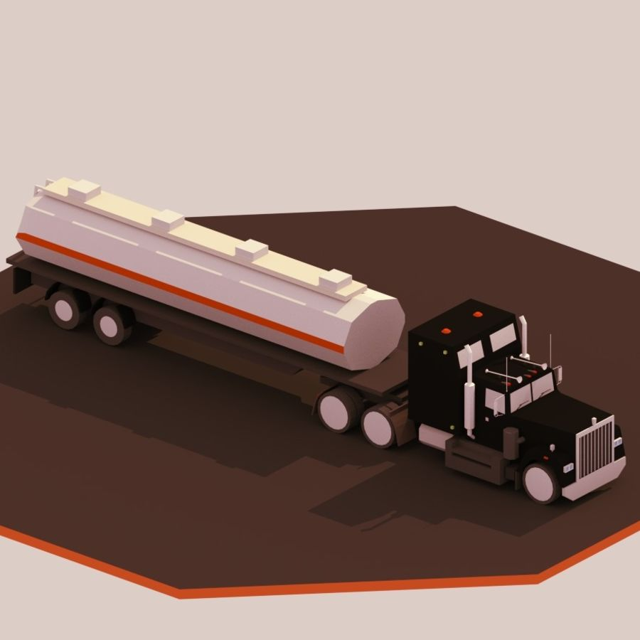 low poly truck royalty-free 3d model - Preview no. 2