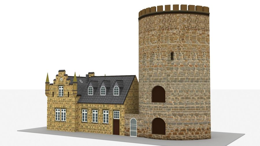 Burg Ravensberg Germany Building royalty-free 3d model - Preview no. 7