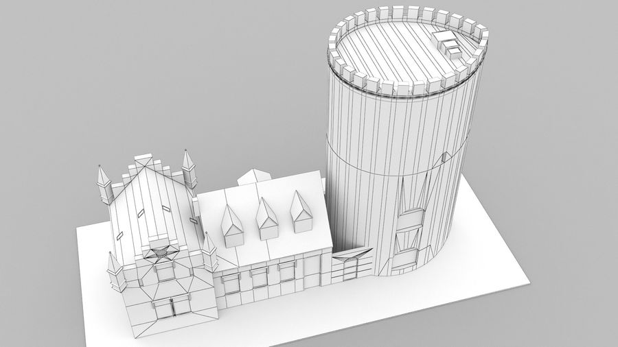 Burg Ravensberg Germany Building royalty-free 3d model - Preview no. 12
