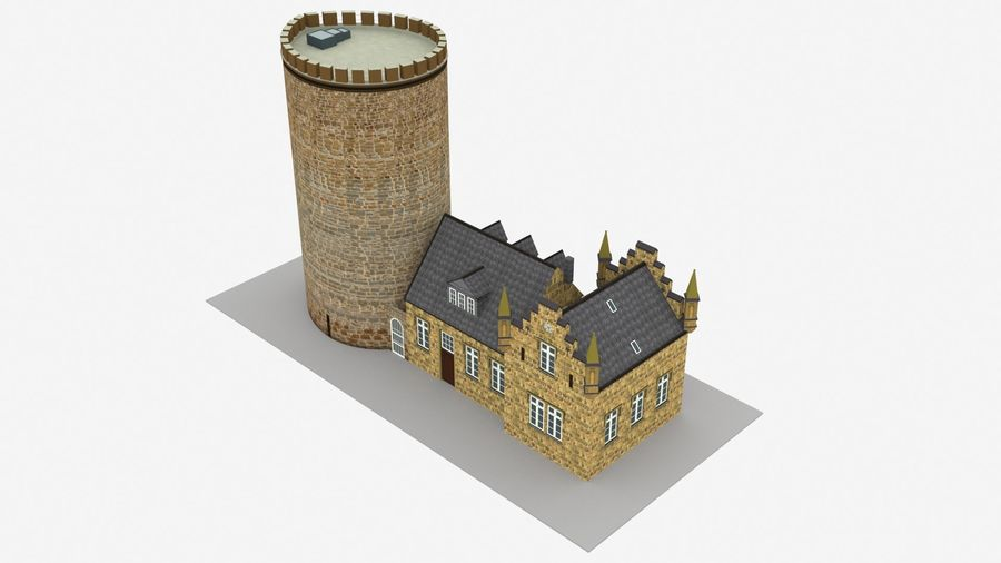 Burg Ravensberg Germany Building royalty-free 3d model - Preview no. 5