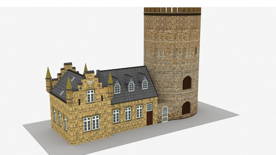 Burg Ravensberg Germany Building royalty-free 3d model - Preview no. 6