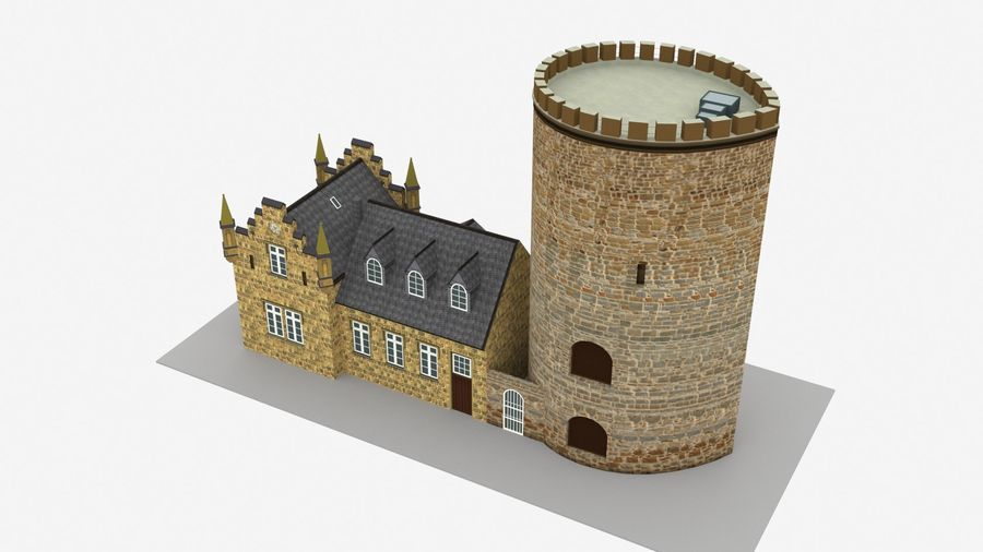 Burg Ravensberg Germany Building royalty-free 3d model - Preview no. 8