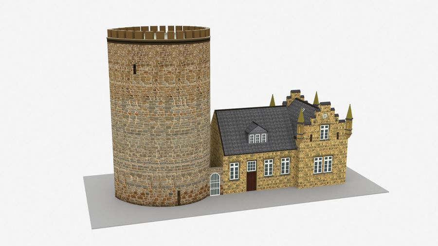 Burg Ravensberg Germany Building royalty-free 3d model - Preview no. 1