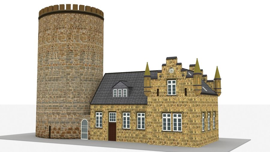 Burg Ravensberg Germany Building royalty-free 3d model - Preview no. 2