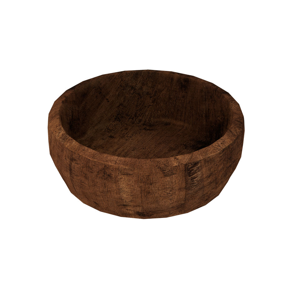 Wood Bowl royalty-free 3d model - Preview no. 3