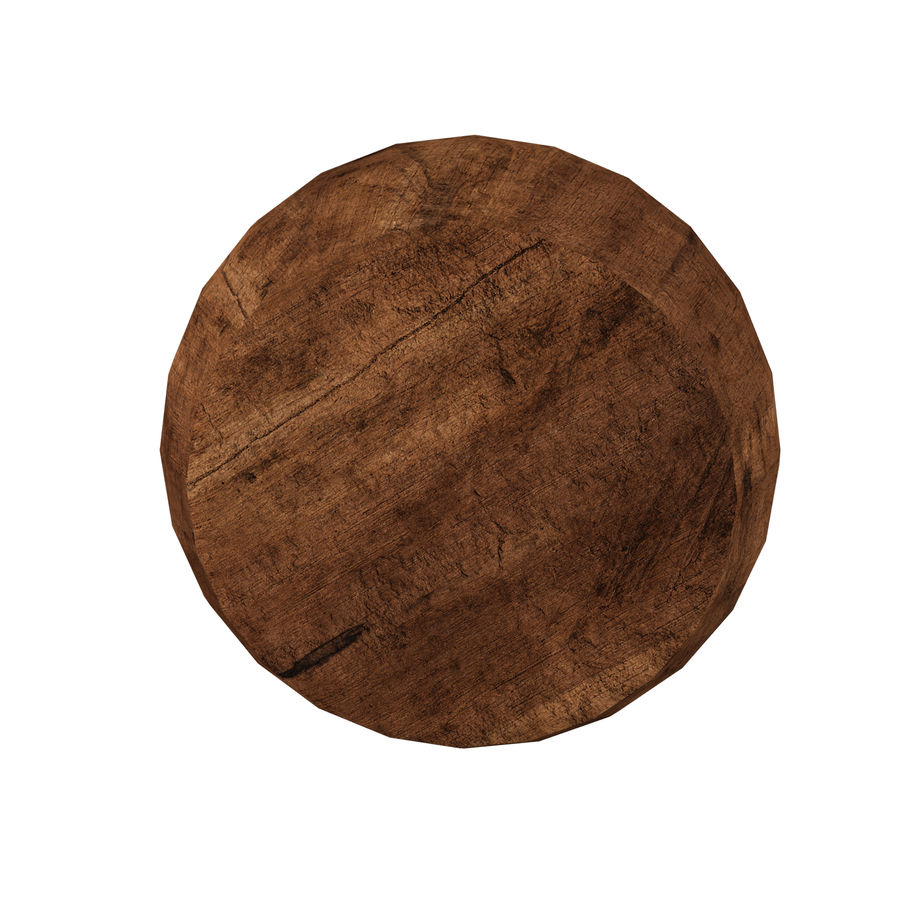 Wood Bowl royalty-free 3d model - Preview no. 6