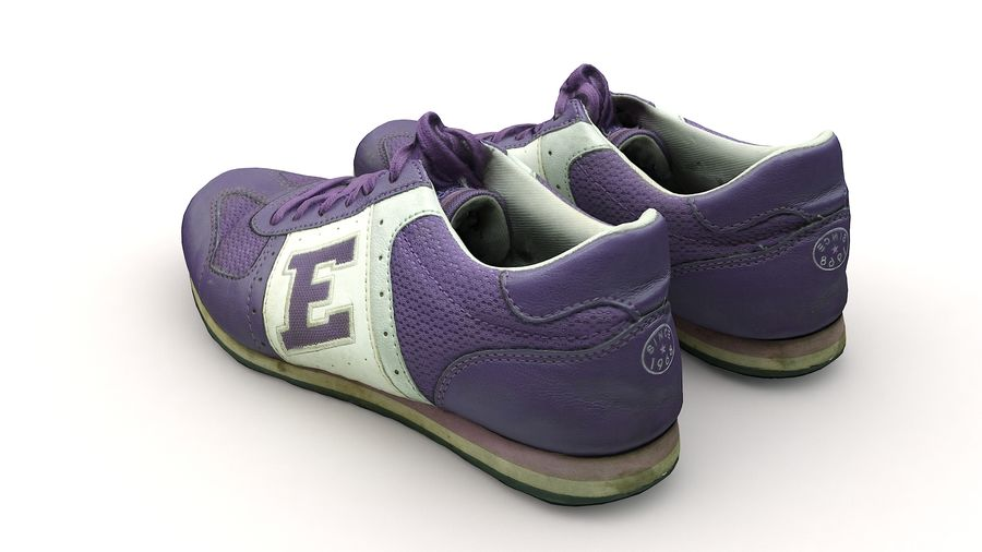 Shoes 25 Sneakers royalty-free 3d model - Preview no. 11