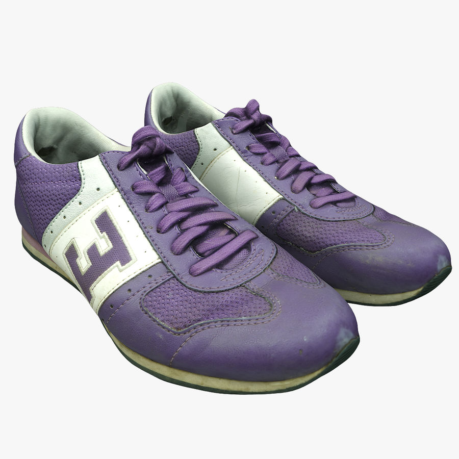 Shoes 25 Sneakers royalty-free 3d model - Preview no. 1
