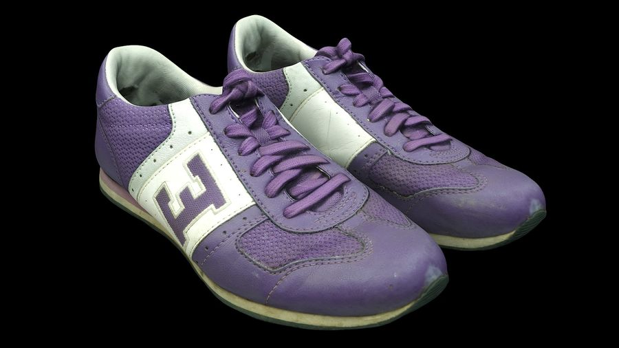 Shoes 25 Sneakers royalty-free 3d model - Preview no. 2