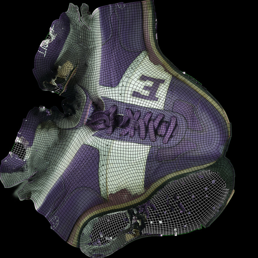 Shoes 25 Sneakers royalty-free 3d model - Preview no. 14