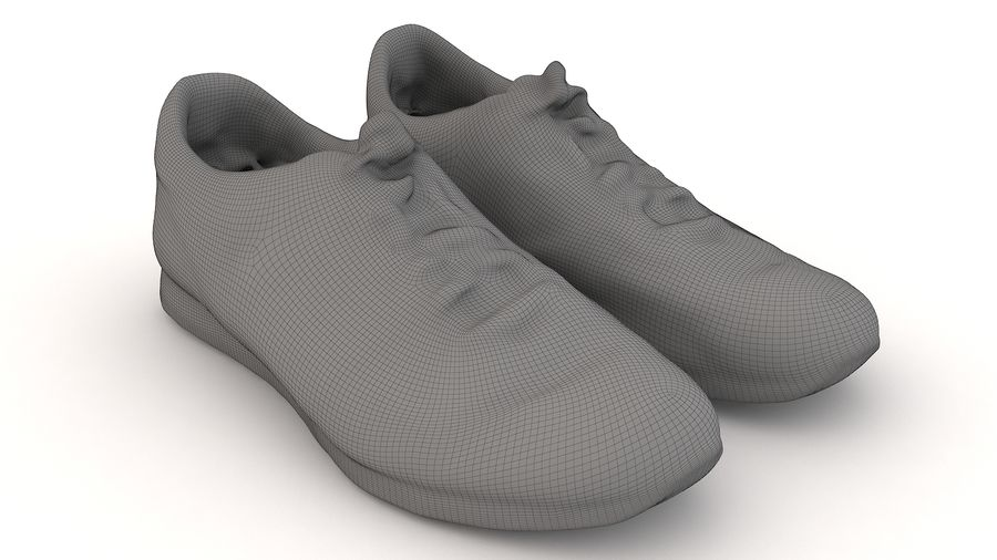 Shoes 25 Sneakers royalty-free 3d model - Preview no. 5