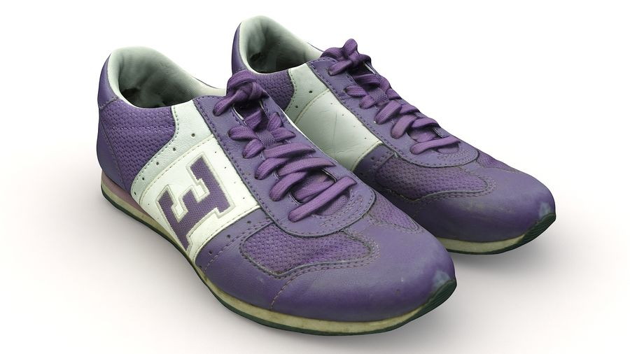 Shoes 25 Sneakers royalty-free 3d model - Preview no. 3
