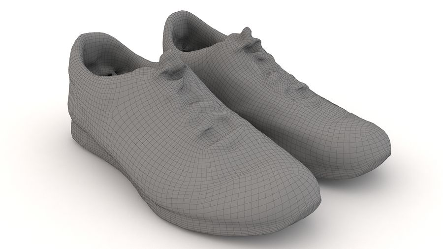 Shoes 25 Sneakers royalty-free 3d model - Preview no. 4