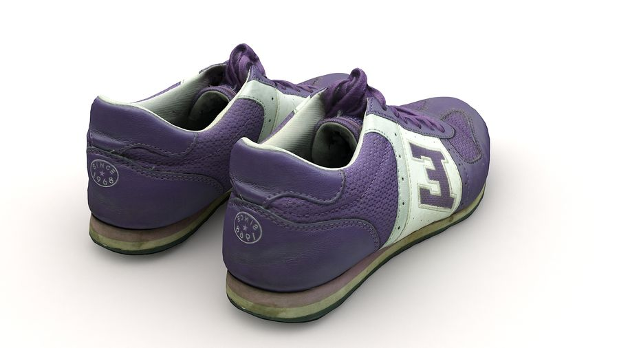 Shoes 25 Sneakers royalty-free 3d model - Preview no. 9
