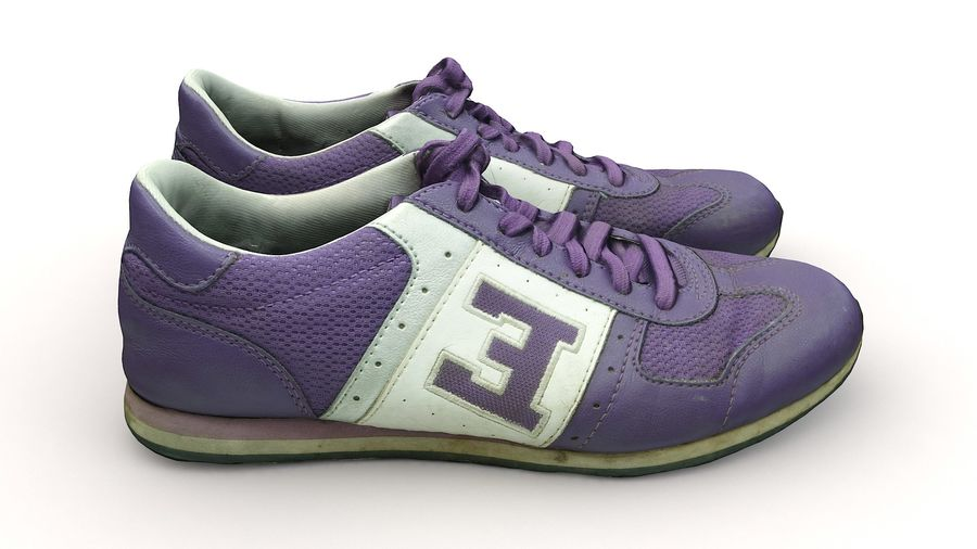 Shoes 25 Sneakers royalty-free 3d model - Preview no. 8