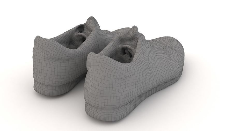 Shoes 25 Sneakers royalty-free 3d model - Preview no. 10