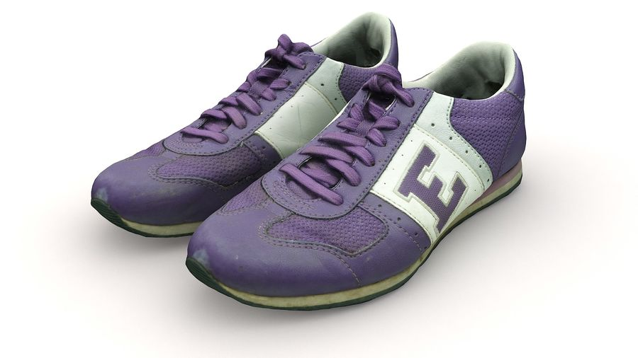 Shoes 25 Sneakers royalty-free 3d model - Preview no. 12