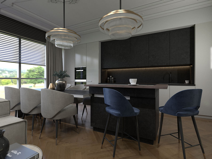 Living Room royalty-free 3d model - Preview no. 4