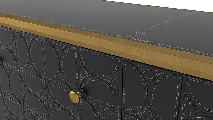 John Richard Hadleigh Sideboard royalty-free 3d model - Preview no. 5